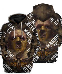 Custom hannibal lecter horror movie for halloween night hoodie 1