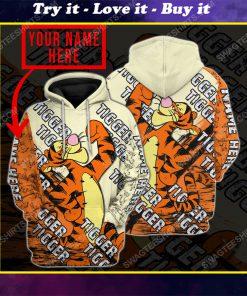 Custom name winnie the pooh and tigger disney cartoon shirt