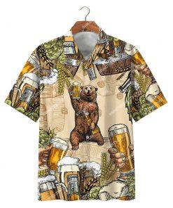 bear and beer summer party all over print hawaiian shirt 2(1)