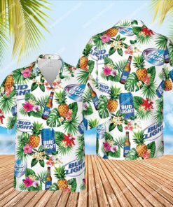 bud light beer and summer party all over print hawaiian shirt 1