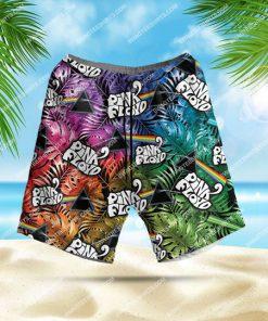 colorful pink floyd band all over print hawaiian shorts 1 - Copy