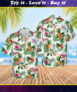 coors light beer summer vibes all over print hawaiian shirt