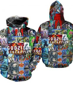 king of monsters godzilla generation all over print hoodie 1