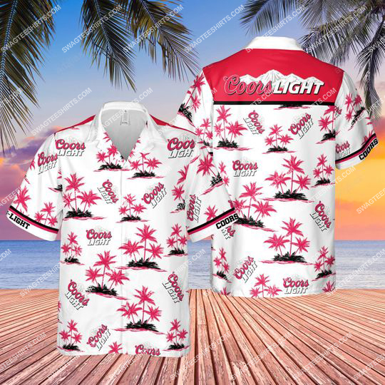 summer party coors light beer all over print hawaiian shirt 1 - Copy