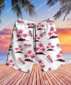 summer party coors light beer all over print hawaiian shorts 1 - Copy