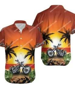 sunset on the beach and motorcycles all over print hawaiian shirt 1 - Copy