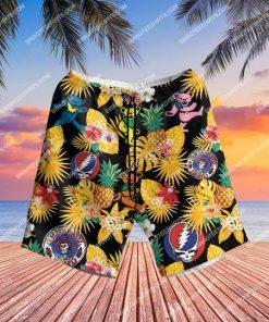 the grateful dead band all over print hawaiian shorts 1