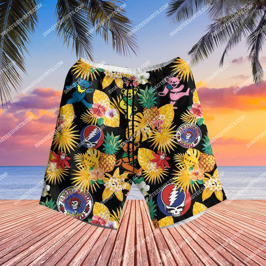 the grateful dead band all over print hawaiian shorts 1 - Copy