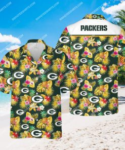 the green bay packers football team all over print hawaiian shirt 1