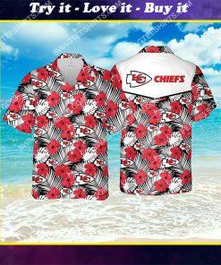 the kansas city chiefs football team all over print hawaiian shirt