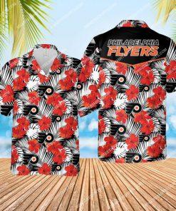 the philadelphia flyers hockey team all over print hawaiian shirt 1