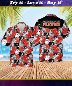 the philadelphia flyers hockey team all over print hawaiian shirt