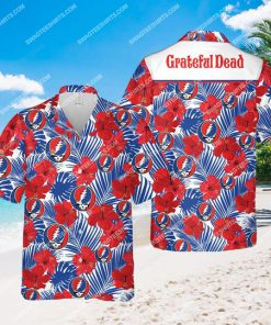 tropical grateful dead band all over print hawaiian shirt 1