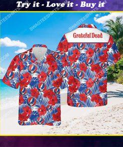 tropical grateful dead band all over print hawaiian shirt