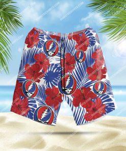 tropical grateful dead band all over print hawaiian shorts 1 - Copy