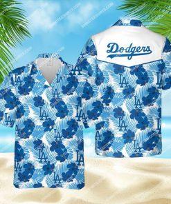 tropical los angeles dodgers mlb all over print hawaiian shirt 1
