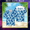 tropical los angeles dodgers mlb all over print hawaiian shirt