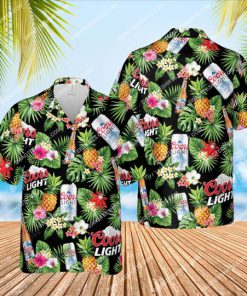 tropical pineapple coors light beer all over print hawaiian shirt 1 - Copy