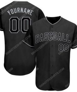Custom team name black and gray full printed baseball jersey 1 - Copy (2)