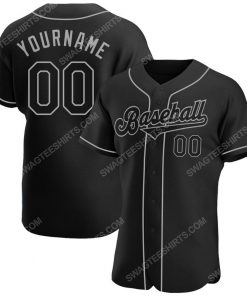 Custom team name black black-gray baseball jersey 1 - Copy (2)