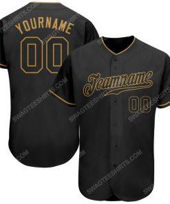 Custom team name black black-old gold baseball jersey 1 - Copy (2)