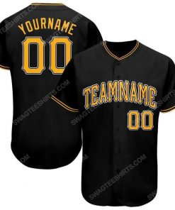Custom team name black gold-white baseball jersey 1 - Copy (2)