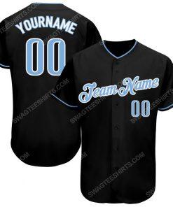 Custom team name black light blue-white full printed baseball jersey 1 - Copy (2)
