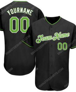 Custom team name black neon green-white full printed baseball jersey 1 - Copy (2)