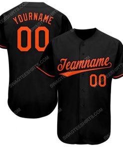 Custom team name black orange baseball jersey 1 - Copy (2)