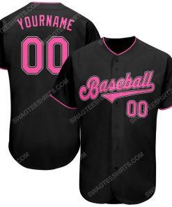 Custom team name black pink-white baseball jersey 1 - Copy (2)