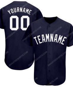 Custom team name navy white full printed baseball jersey 1 - Copy (2)