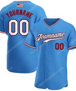 Custom team name powder blue white-red american flag baseball jersey 1 - Copy (2)
