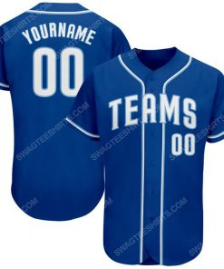 Custom team name royal strip white-light blue full printed baseball jersey 1 - Copy (2)