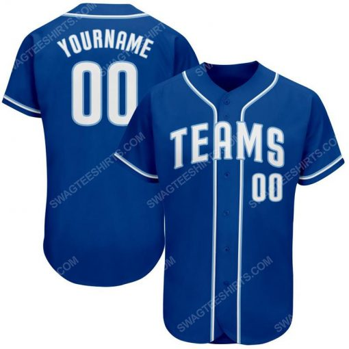 Custom team name royal strip white-light blue full printed baseball jersey 1 - Copy