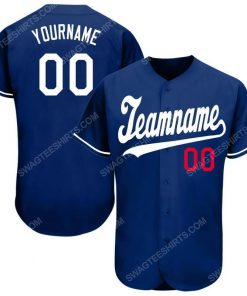 Custom team name royal white-red baseball jersey 1 - Copy (2)