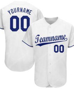 Custom team name white royal full printed baseball jersey 1 - Copy (2)