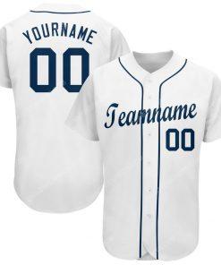 Custom team name white strip navy full printed baseball jersey 1 - Copy (2)