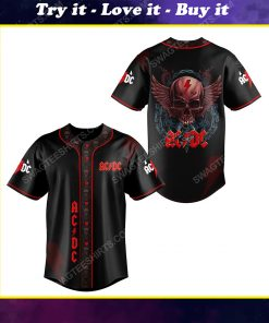 ACDC rock band all over print baseball jersey
