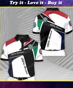 Alfa romeo racing all over print polo shirt