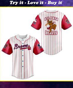 Atlanta braves and scooby doo all over print baseball jersey