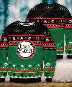 Christmas holiday demon slayer full print ugly christmas sweater 2