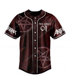 Custom anthrax rock band all over print baseball jersey 2 - Copy
