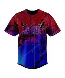 Custom colorful black sabbath rock band all over print baseball jersey 2 - Copy