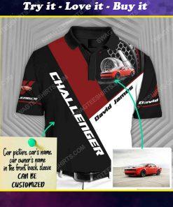 Custom dodge challenger car racing all over print polo shirt