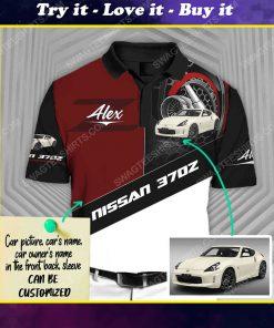 Custom nissan 307z sports car racing all over print polo shirt