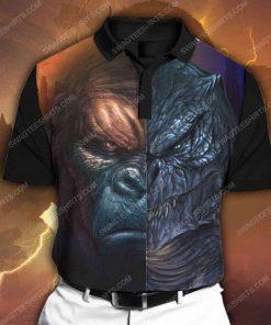 Godzilla vs king kong king of monsters all over print polo shirt 1 - Copy (2)