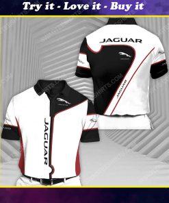 Jaguar sports car racing all over print polo shirt
