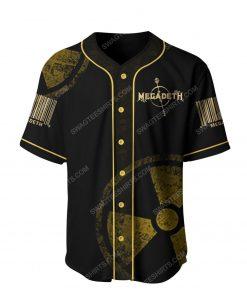Megadeth american heavy metal band baseball jersey 2 - Copy