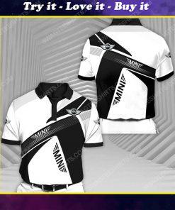 Mini cooper sports car racing all over print polo shirt