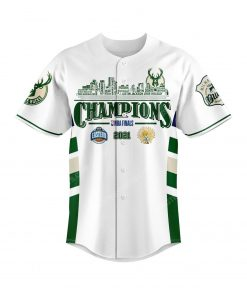 NBA milwaukee bucks championship baseball jersey 2 - Copy